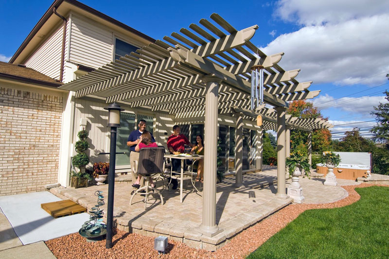 Gallery attached pergola attached2 solutioingenieria Image collections